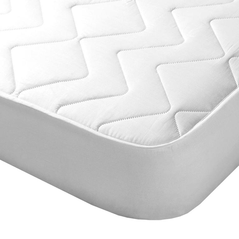 Prošívaný chránič matrace s aloe vera bílý