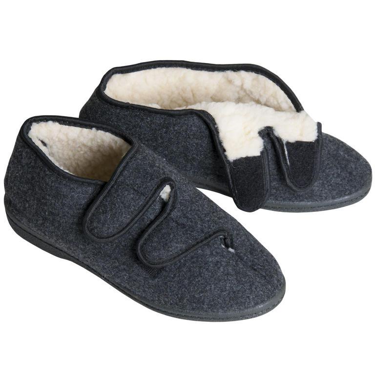 Domácí obuv bačkory důchodky šedé vel. 45