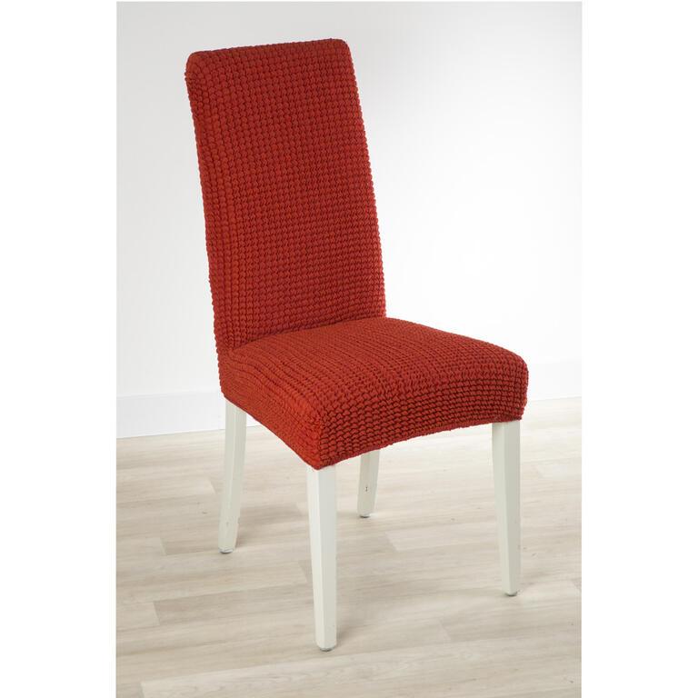 Super strečové potahy GLAMOUR cihlové židle s opěradlem 2 ks 40 x 40 x 60 cm - 1