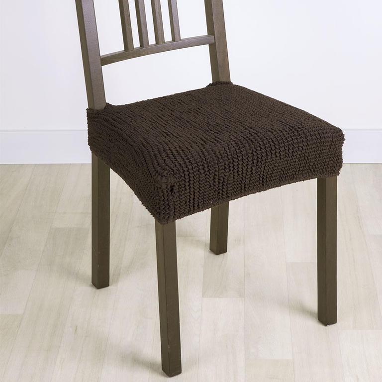 Super strečové potahy GLAMOUR hnědé židle 2 ks 40 x 40 cm