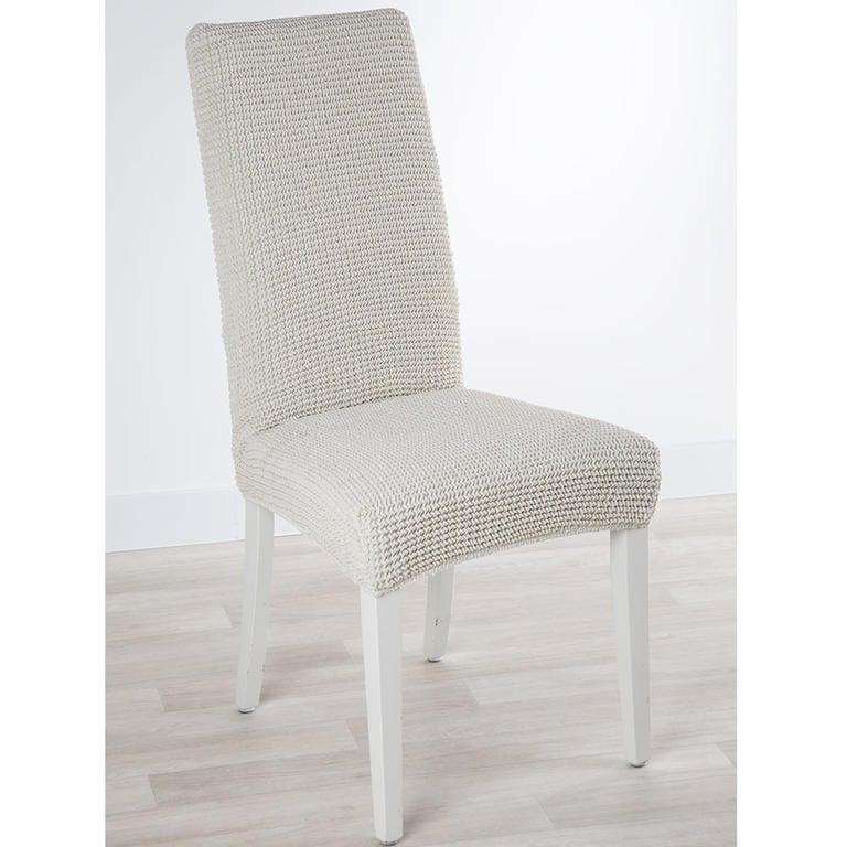 Super strečové potahy GLAMOUR smetanové židle s opěradlem 2 ks 40 x 40 x 60 cm - 1