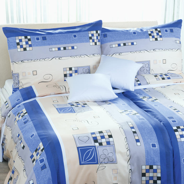 Bavlněné ložní povlečení Astra modré prodloužená délka