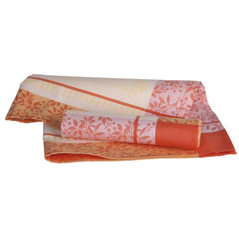 Bavlněné kuchyňské utěrky oranžové 50 x 70 cm