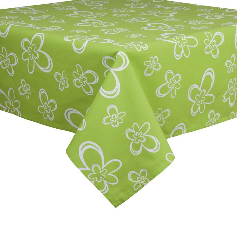 Bavlněný ubrus Daisy zelený