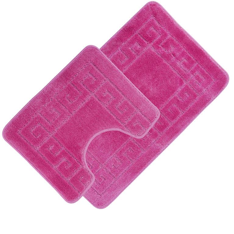Koupelnové předložky GRUND růžové  - 1
