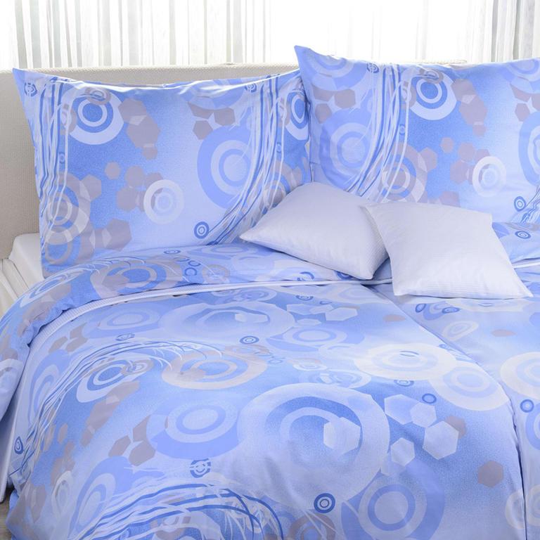 Bavlněné ložní povlečení Odeta modré prodloužená délka
