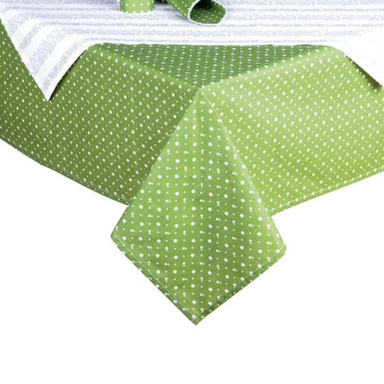 Bavlněné ubrusy s prostíráním Evelina zelená  - 1