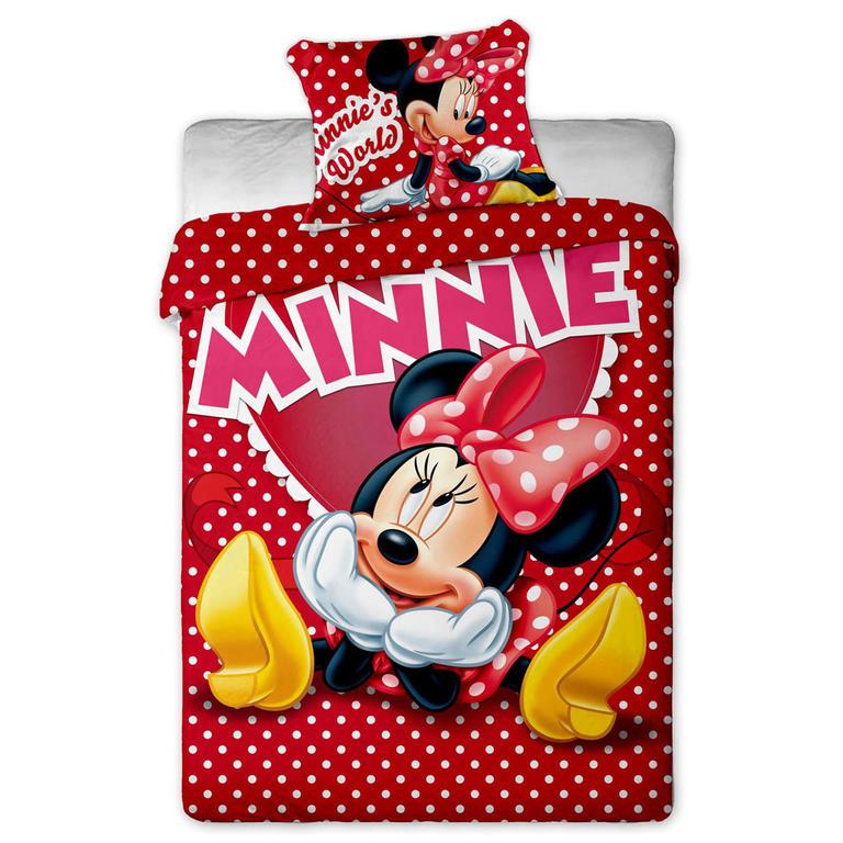 Dětské ložní povlečení Minnie červené