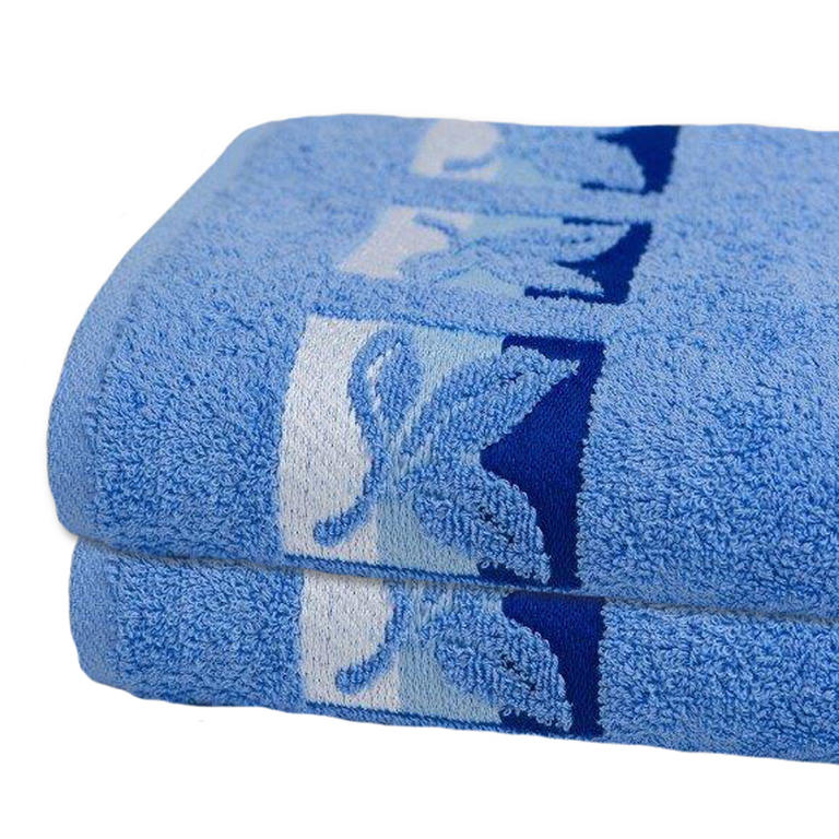 Bavlněné froté ručníky světle modré