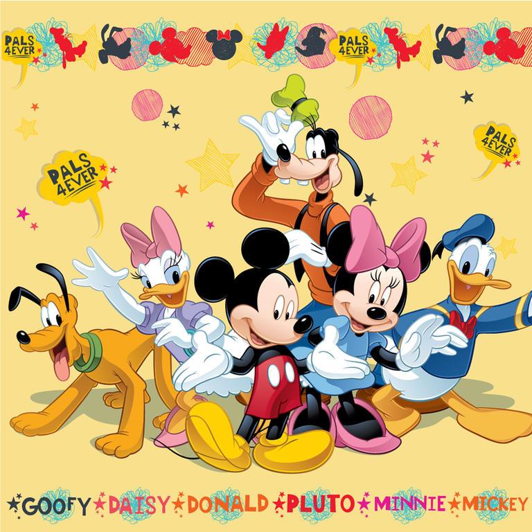 Dětský polštářek s výplní Mickey a kamarádi