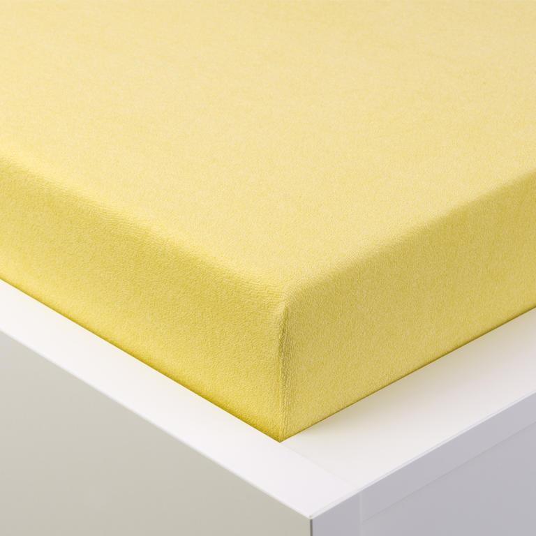 Napínací prostěradlo froté EXCLUSIVE světle žlutá jednolůžko - 1