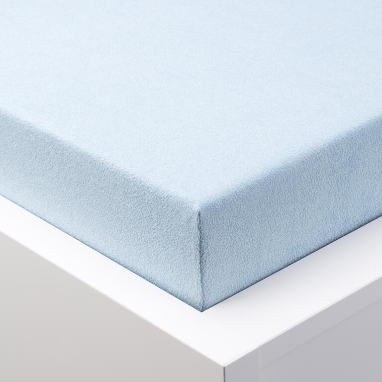Napínací prostěradlo froté EXCLUSIVE ledově modrá  - 1
