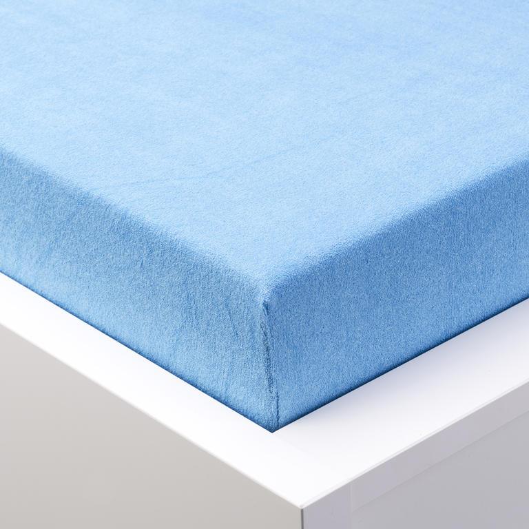 Napínací prostěradlo froté EXCLUSIVE modrá  - 1