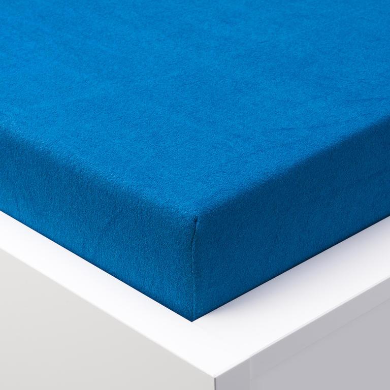 Napínací prostěradlo froté EXCLUSIVE královská modrá jednolůžko - 1