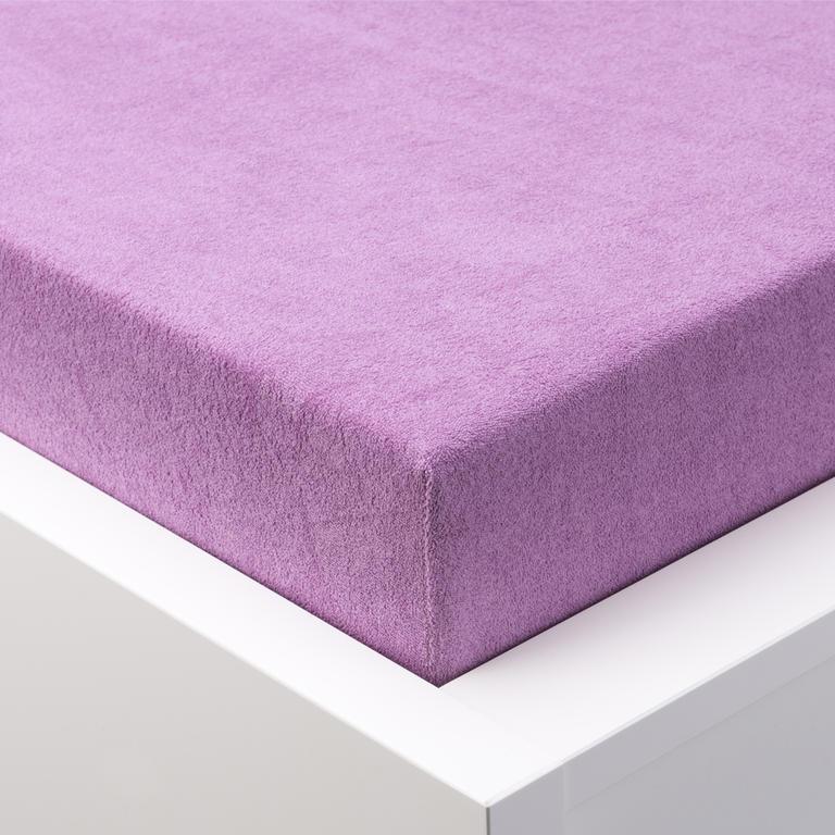 Napínací prostěradlo froté EXCLUSIVE fialová jednolůžko - 1