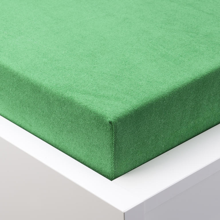 Napínací prostěradlo froté EXCLUSIVE zelená  - 1