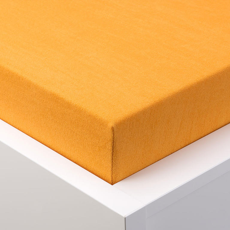Napínací prostěradlo froté EXCLUSIVE oranžová jednolůžko 2 ks - 1