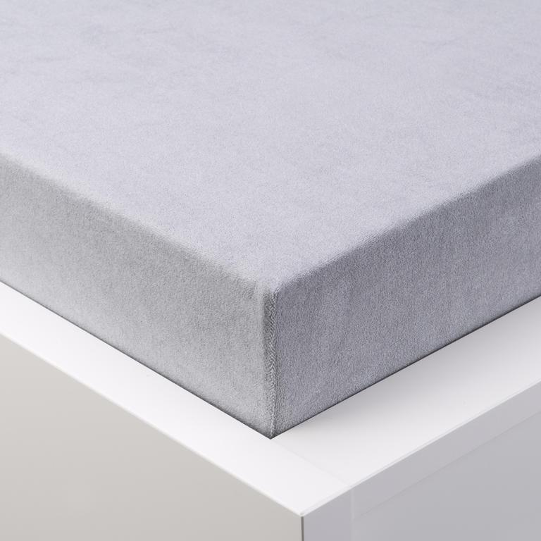Napínací prostěradlo froté EXCLUSIVE platinově šedá jednolůžko - 1
