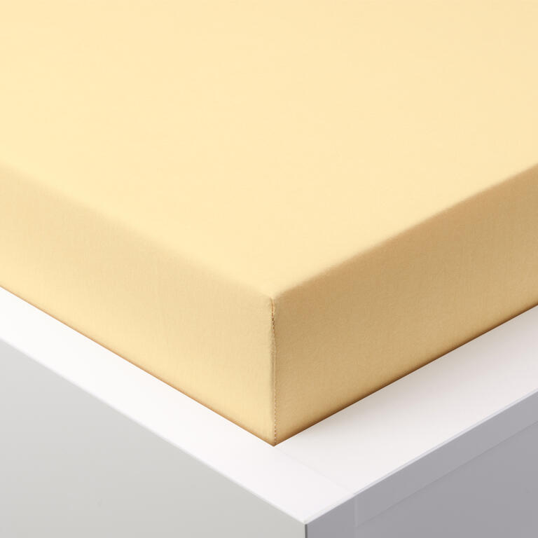 Napínací prostěradlo jersey EXCLUSIVE světle žlutá  - 1