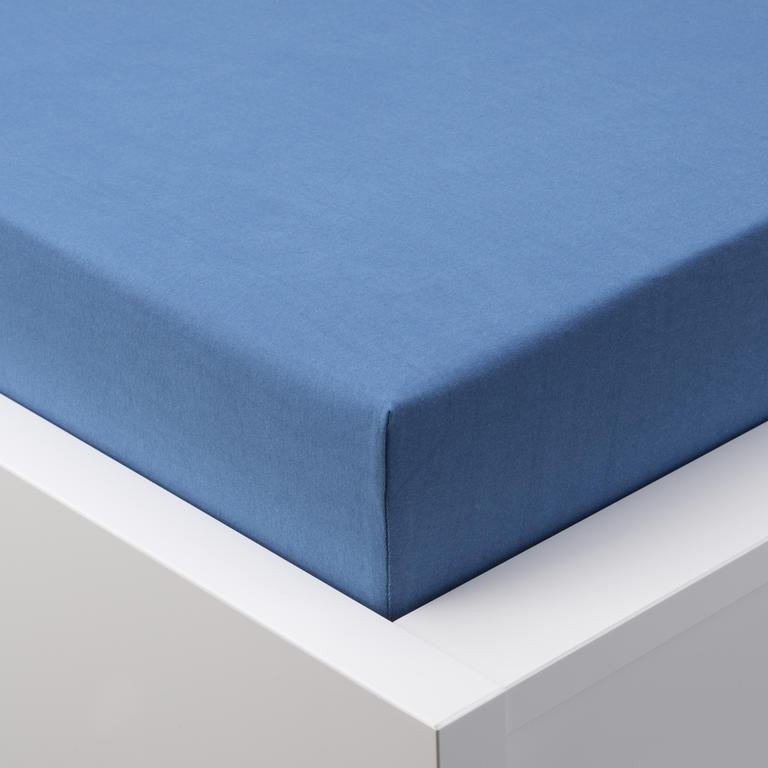 Napínací prostěradlo jersey EXCLUSIVE královská modrá jednolůžko 2 ks - 1