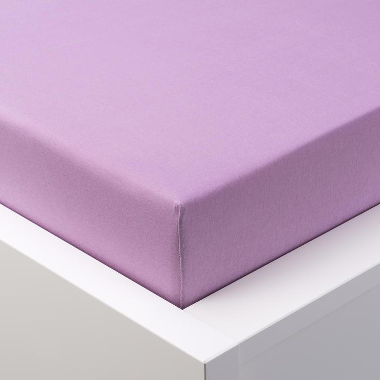 Napínací prostěradlo jersey EXCLUSIVE fialová  - 1