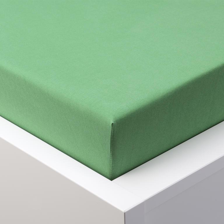 Napínací prostěradlo jersey EXCLUSIVE zelená jednolůžko - 1