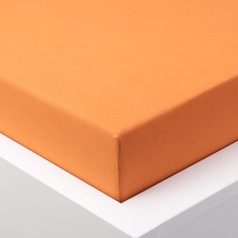 Napínací prostěradlo jersey EXCLUSIVE oranžová jednolůžko 2 ks - 1