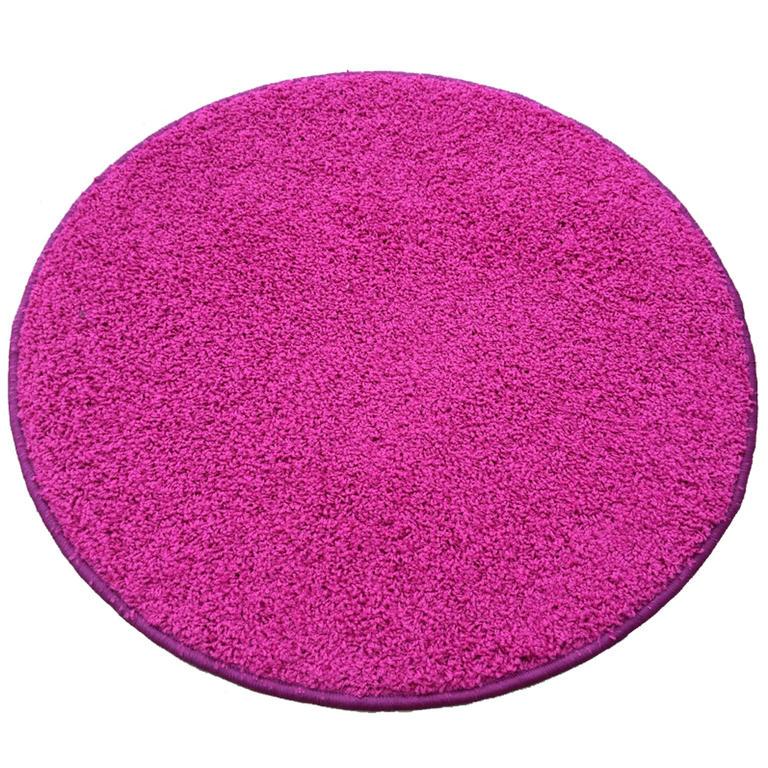 Kulatý koberec SHAGGY růžový  - 1