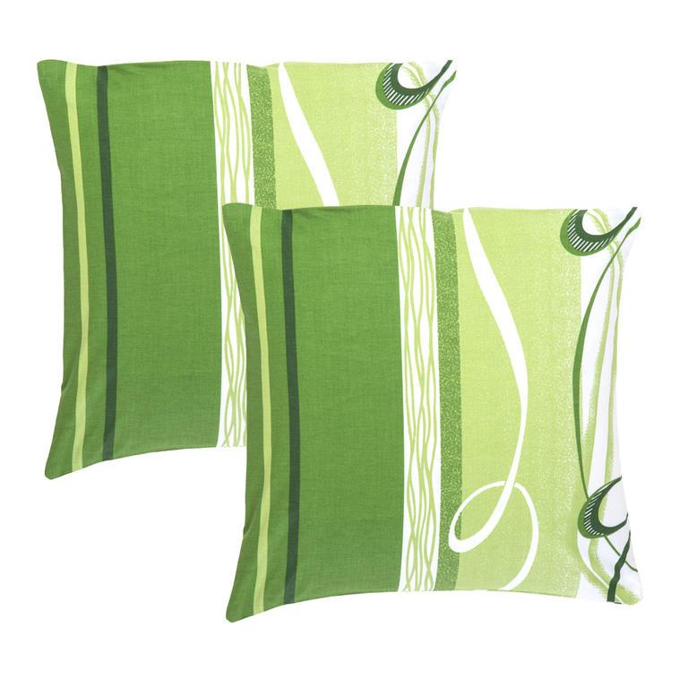 Bavlněné povlaky na polštářky Twist zelené 2 kusy