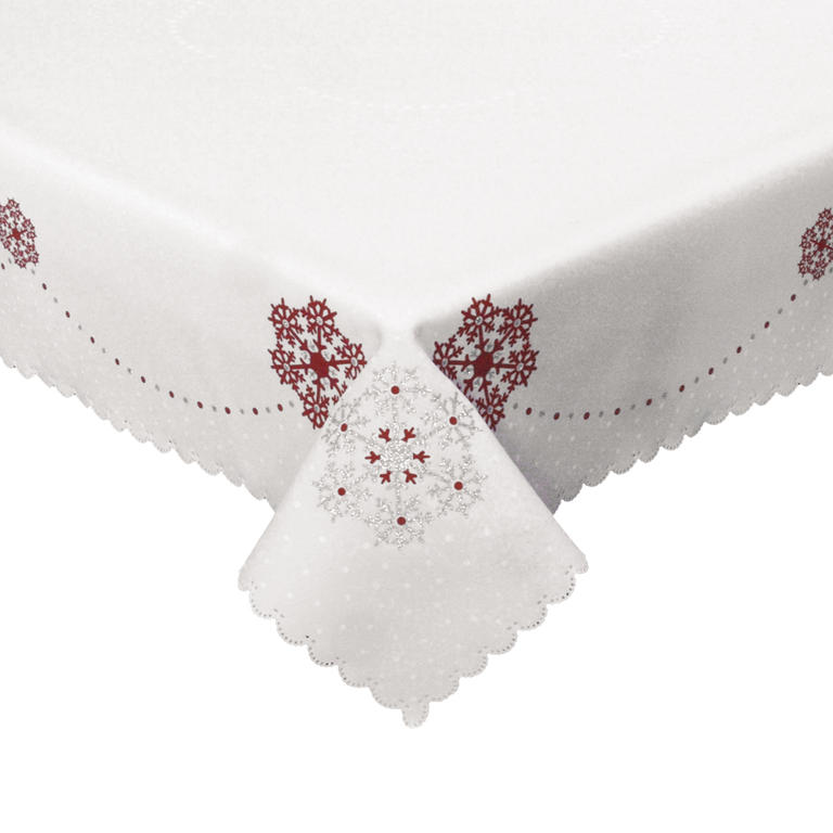 Sváteční prostírky červené sada 2 kusů