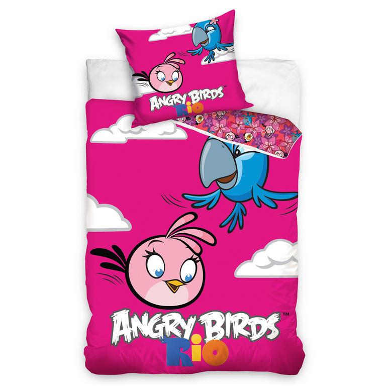 Dětské ložní povlečení Angry Birds Pink Bird