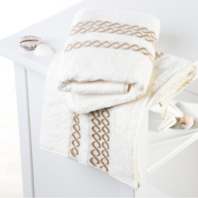 Bambusové ručníky Valencia krémové sada 2 kusů - 1