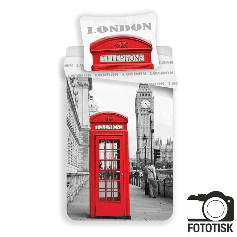 Jerry Fabrics povlečení London Telephone bavlna 140x200 70x90