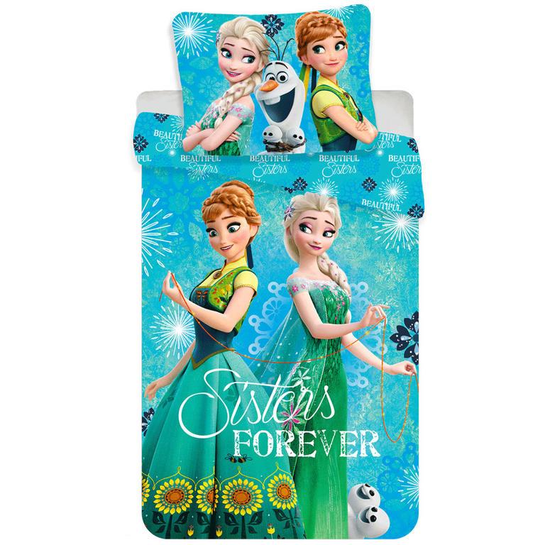 Jerry Fabrics Povlečení Frozen sisters forever 140 x 200 cm, 70 x 90 cm