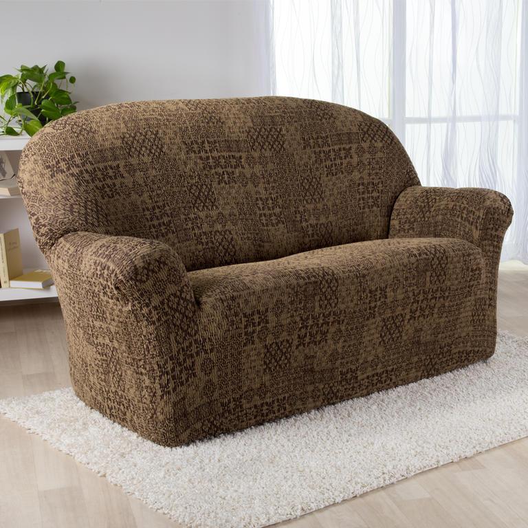 Nueva Textura Monoelastické potahy na sedací soupravuy ADANA hnědé na sedačku - trojkřeslo 180 - 220 cm