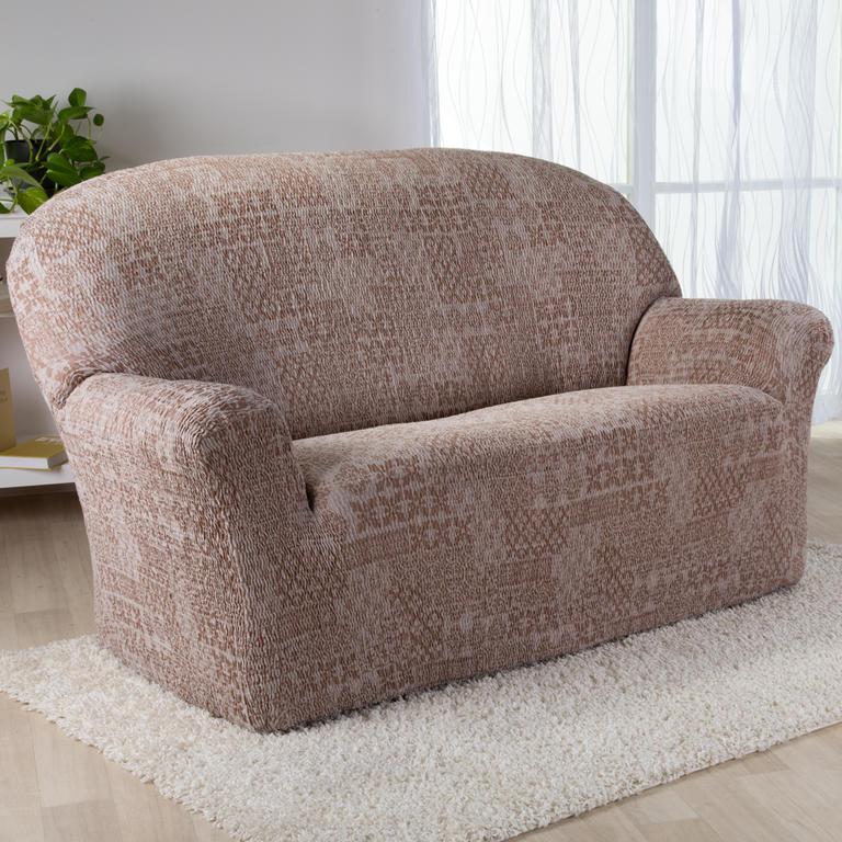 Nueva Textura Monoelastické potahy na sedací soupravuy ADANA béžové na sedačku - trojkřeslo 180 - 220 cm