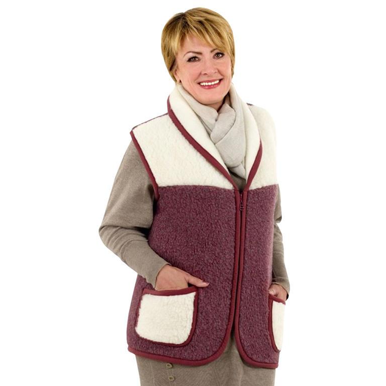 Dámská vesta se šálovým límcem z ovčí vlny MERINO vel. M