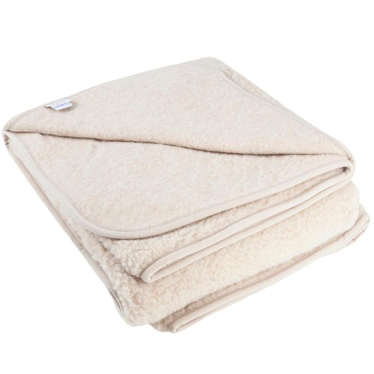 Vlnka Vlněná deka krémová 1ply 135x200