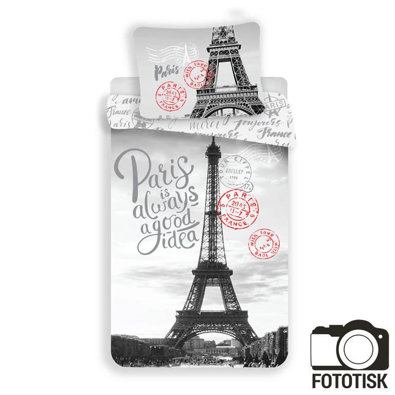 Jerry Fabrics bavlna povlečení Paříž Good Idea 140x200 70x90