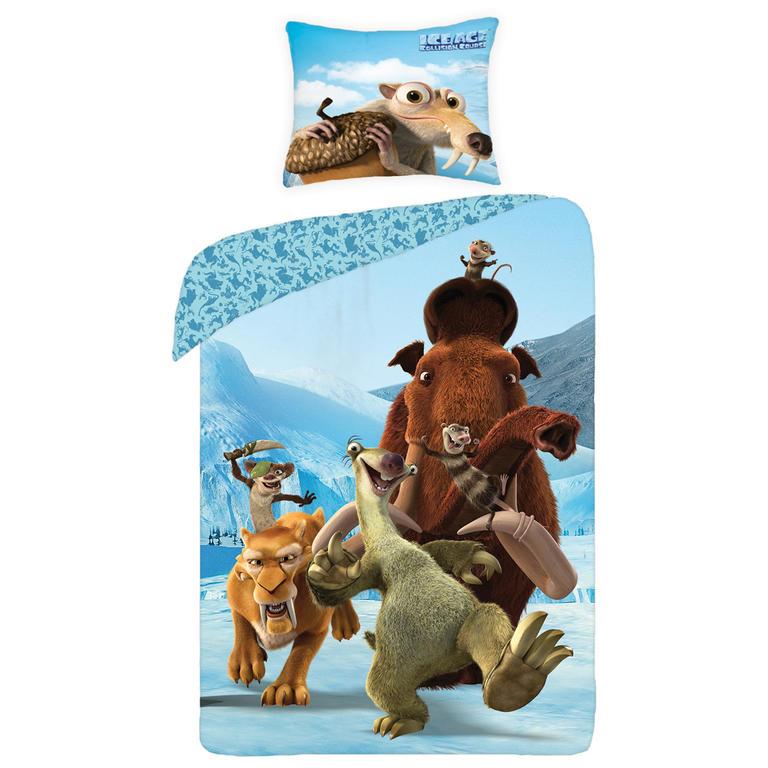 Dětské ložní povlečení Ice Age 140 x 200 cm, 70 x 90 cm