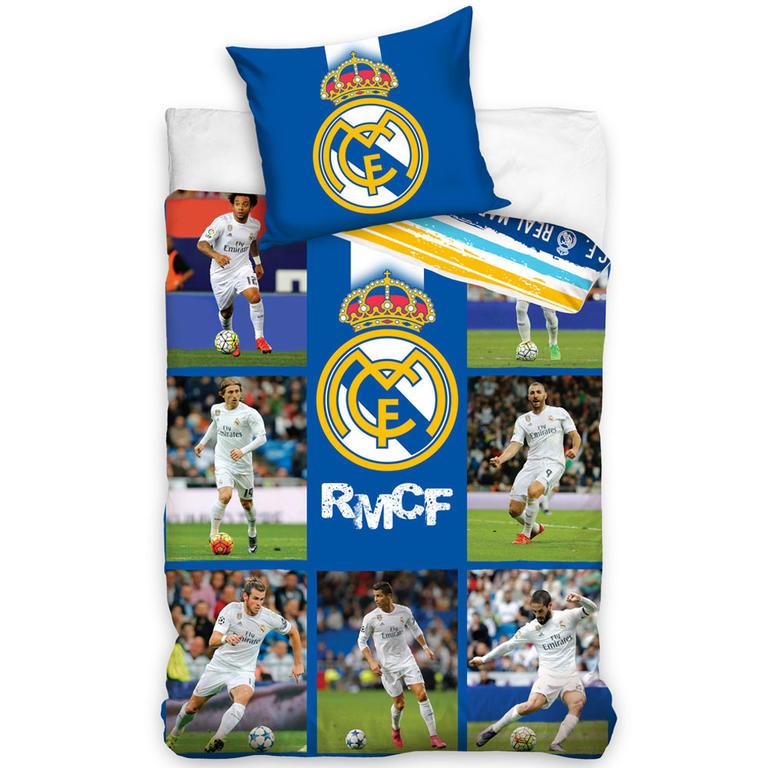 Carbotex bavlna Povlečení Real Madrid Mozaika 140x200 70x90