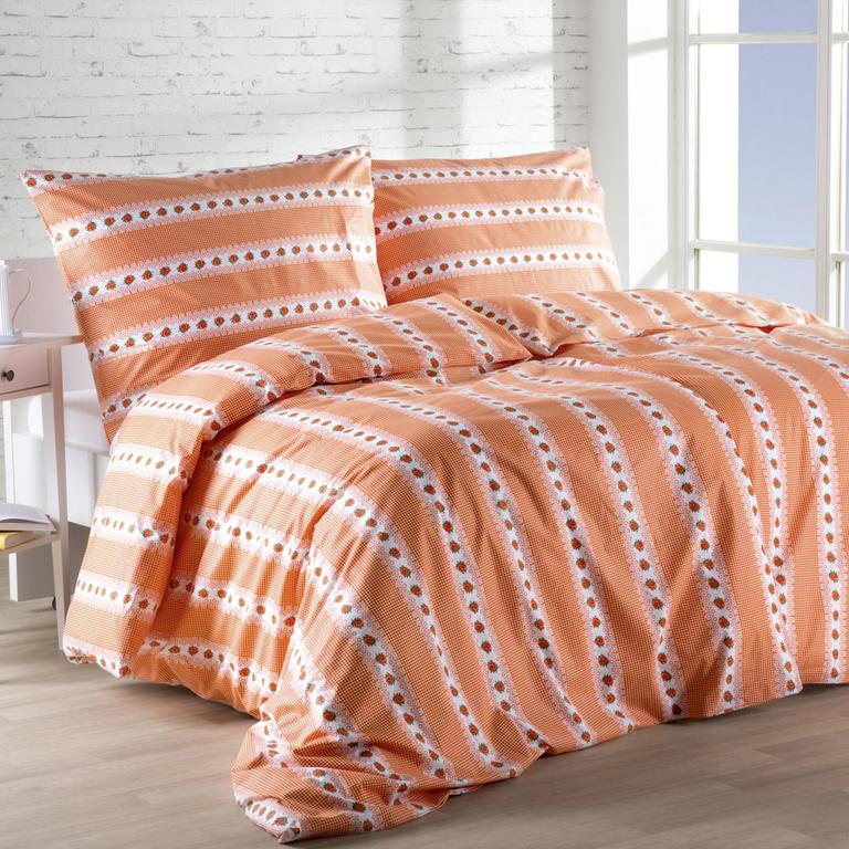 Bavlněná ložní souprava Barunka oranžová