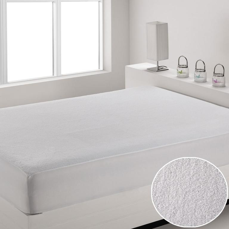 Voděodolný mikroplyšový matracový chránič Magenta 80 x 200 cm