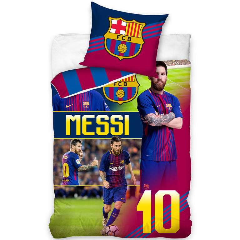 Carbotex povlečení FC Barcelona MESSI bavlna 140x200 70x90