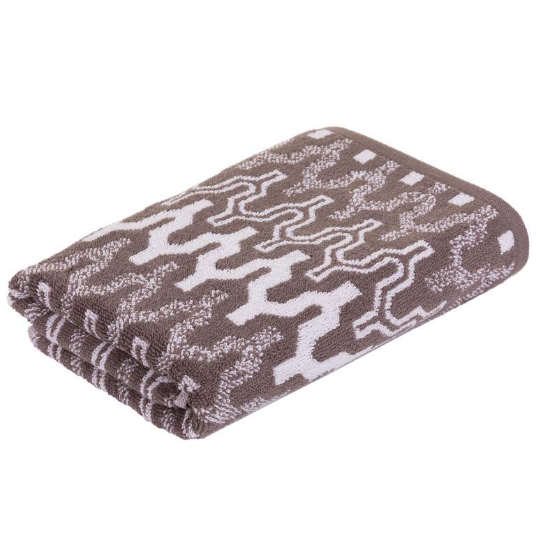 Froté ručník MARRAKECH Chevron hnědý 50 x 100 cm