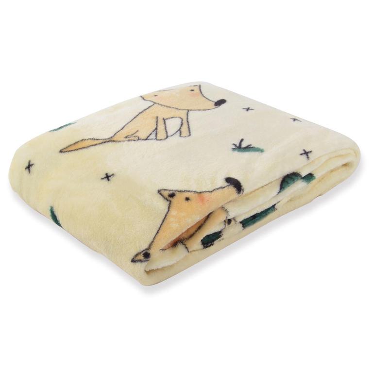 Novega Dětská deka CARTOON PETS Sedící liška 80 x 110 cm