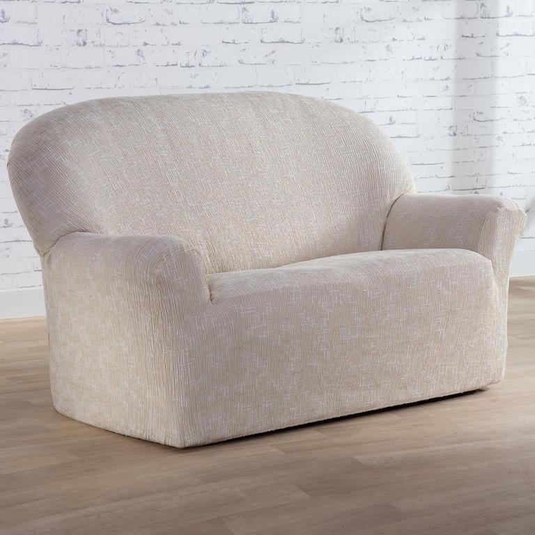 Nueva Textura Monoelastické potahy na sedací soupravuy SOFIA smetanové na sedačku - dvojkřeslo 140 - 180 cm