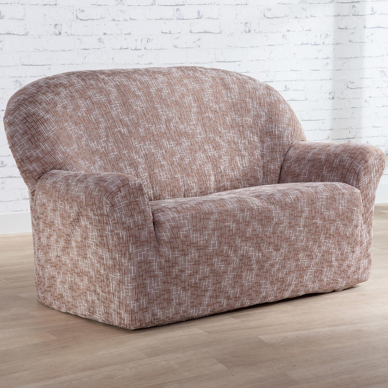 Nueva Textura Monoelastické potahy na sedací soupravuy SOFIA béžové na sedačku - dvojkřeslo 140 - 180 cm