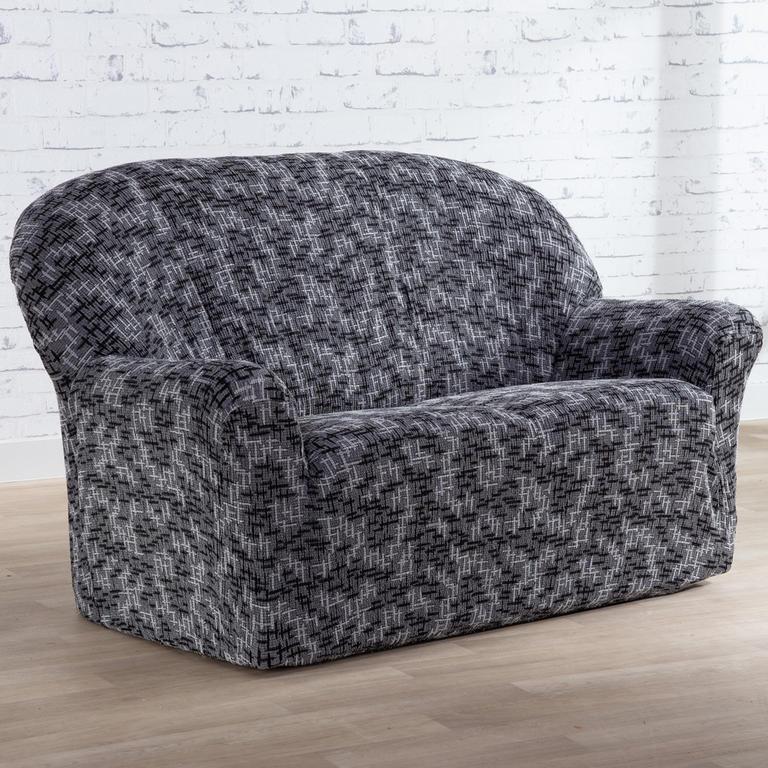 Nueva Textura Monoelastické potahy na sedací soupravuy SOFIA šedé na sedačku - dvojkřeslo 140 - 180 cm