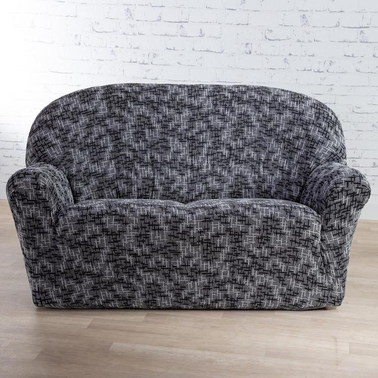 Nueva Textura Monoelastické potahy na sedací soupravuy SOFIA šedé na sedačku - trojkřeslo 180 - 220 cm